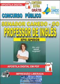 Apostila Digital SENADOR CANEDO/GO 2020 - Professor De Inglês