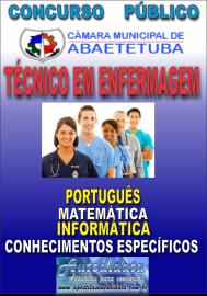 Apostila Impressa Concurso de ABAETETUBA - PA 2018 - Técnico em Enfermagem