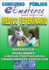 Apostila Impressa Concurso EMATERCE - CE - 2018 - Médico Veterinário