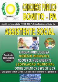 Apostila Impressa Concurso Público Prefeitura de Bonito - PA 2020 Assistente Social