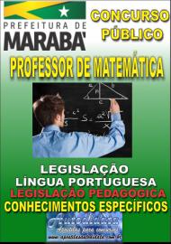 Apostila  Digital Concurso MARABÁ - PA 2018 - Professor Licenciado Em Matemática