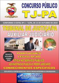Apostila impressa concurso Tribunal de Justiça do Pará TJ-PA 2019 – Auxiliar Judiciário Nível Medio