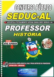 Apostila Digital Concurso SEDUC - AL 2021 Professor de História