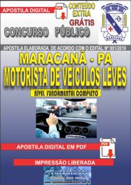 Apostila Digital Concurso de Maracanã/Pa 2019 – Motorista De Veículos Leves - Categoria A e B