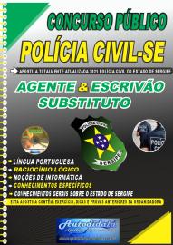 Apostila Impressa Concurso Polícia Civil - SE 2021 AGENTE & ESCRIVÃO Substituto