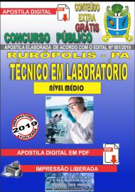 Apostila Digital Concurso PREFEITURA MUNICIPAL DE RURÓPOLIS - PA - 2019 - Técnico Em Laboratório