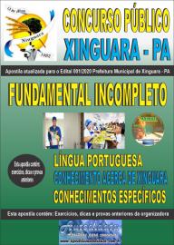 Apostila Impressa Concurso Público Prefeitura Xinguara - PA 2020 Nível Fundamental Incompleto