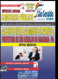 Apostila Digital Concurso Público Prefeitura Municipal de São Geraldo do Araguaia - PA 2020 Assistente Administrativo