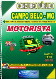 Apostila Digital Concurso Público Prefeitura de Campo Belo - MG 2020 Motorista