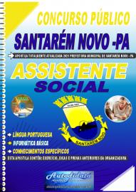 Apostila Impressa Concurso Público Prefeitura de Santarém Novo - PA 2021 Assistente Social