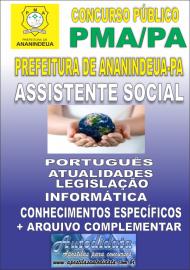 Apostila Impressa ANANINDEUA/PA 2019 - Assistente Social