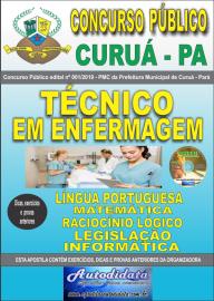 Apostila Impressa Concurso Público Prefeitura Municipal de Curuá - Pará 2019 Técnico em Enfermagem