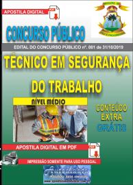 Apostila Digital Concurso - Prefeitura Municipal de Imperatriz - MA 2019 - Técnico em Segurança do Trabalho