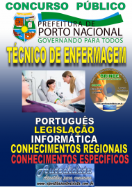 Apostila Impressa Concurso da Prefeitura de Porto Nacional - TO – 2019 - Técnico De Enfermagem