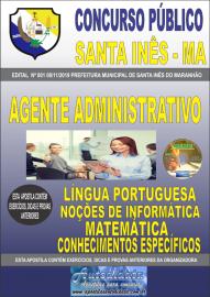 Apostila Impressa Concurso Prefeitura Municipal de Santa Inês - Maranhão 2019 Agente Administrativo