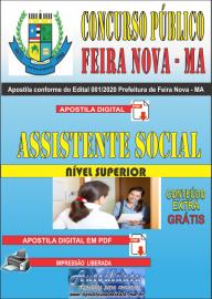 Apostila Digital Concurso Público Prefeitura de Feira Nova - MA 2020  Área Assistente Social