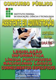 Apostila Impressa Concurso INSTITUTO FEDERAL DE EDUCAÇÃO, CIÊNCIA E TECNOLOGIA DO PARÁ - IFPA - PA - 2019 - Assistente em Administração