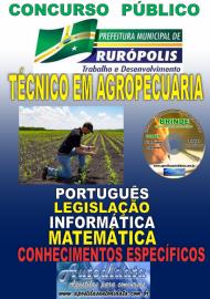 Apostila Impressa Concurso PREFEITURA MUNICIPAL DE RURÓPOLIS - PA - 2019 - Técnico Em Agropecuária
