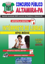 Apostila Digital Concurso Prefeitura de Altamira - PA 2020 - Intérprete De Libras