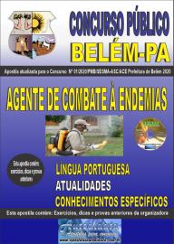 Apostila Impressa Concurso Público Prefeitura de Belém - 2020 Agente de Combate à Endemias