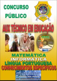 Apostila Impressa Processo Seletivo de URUARÁ/PA 2019 – Auxiliar Técnico Em Educação