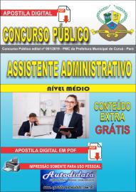Apostila Digital Concurso Público Prefeitura Municipal de Curuá - Pará 2019 Assistente Administrativo