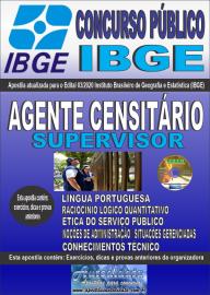 Apostila Impressa Concurso Público Instituto Brasileiro de Geografia e Estatística (IBGE) 2020 Agente Censitário Supervisor (ACS))