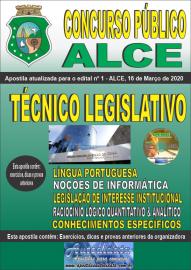 Apostila Impressa Concurso Público da Assembleia Legislativa do Ceará - 2020 Técnico Legislativo