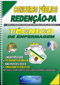 Apostila Impressa Concurso Público Prefeitura de Redenção - PA 2020 Técnico de Enfermagem