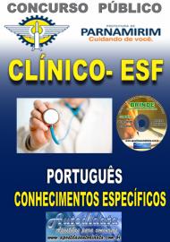 Apostila Impressa Concurso PARNAMIRIM – RN/2019 - Clínico da Estratégia de Saúde da Família - ESF