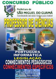 Apostila Impressa concurso SÃO MIGUEL DO GUAMÁ/PA 2019 – Professor De Ciências