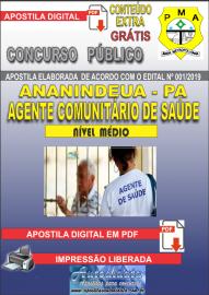 Apostila Digital Concurso PREFEITURA MUNICIPAL DE ANANINDEUA/PA 2019 - Agente Comunitário de Saúde