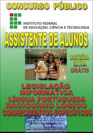 Apostila Digital Concurso INSTITUTO FEDERAL DE EDUCAÇÃO, CIÊNCIA E TECNOLOGIA DO PARÁ - IFPA - PA - 2019 - Assistente de alunos
