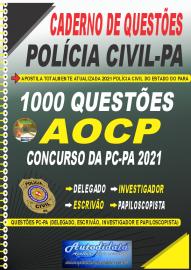 Apostila Impressa Caderno de Questões PC-PA 2021 1000 Questões Gabaritadas