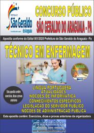 Apostila Impressa Concurso Público Prefeitura Municipal de São Geraldo do Araguaia - PA 2020 Técnico em Enfermagem