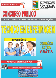 Apostila Digital Concurso Prefeitura Municipal de Santana do  Araguaia - PA 2019 - Técnico em Enfermagem