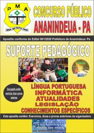 Apostila Impressa Concurso Público Prefeitura de Ananindeua - PA 2020 Área Suporte Pedagógico