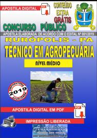 Apostila Digital Concurso PREFEITURA MUNICIPAL DE RURÓPOLIS - PA - 2019 - Técnico Em Agropecuária