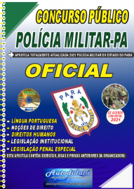 Apostila Impressa Concurso Público Polícia Militar do Pará 2020 Área Oficial