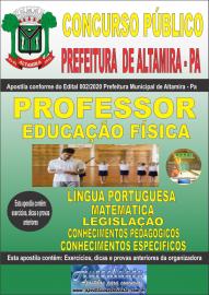 Apostila Impressa Concurso Público Prefeitura Municipal de Altamira - Pa 2020 Área Professor de Educação Física