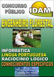 Apostila Impressa Concurso IDAM - AM 2018 - Engenheiro Florestal