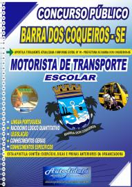 Apostila Impressa Concurso Público Prefeitura de Barra dos Coqueiros - SE 2020 Motorista de Transporte Escolar