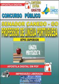 Apostila Digital SENADOR CANEDO/GO 2020 - Professor De Língua Portuguesa