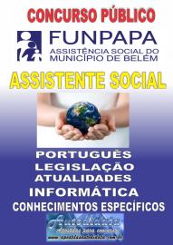 Apostila impressa concurso da FUNPAPA 2018 - Assistente Social