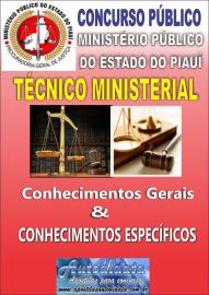 Apostila impressa concurso do MPE - PI - PIUAÍ 2018 - TÉCNICO MINISTERIAL