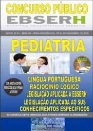 Apostila Impressa Concurso EBSERH - 2019 Pediatria
