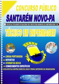 Apostila Impressa Concurso Público Prefeitura de Santarém Novo - PA 2021 Técnico em Enfermagem