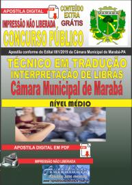 Apostila digital concurso público Câmara Municipal de Marabá - Pa 2020 Nível Médio Técnico em Tradução e Interpretação de Libras