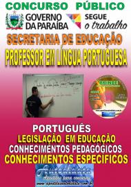 Apostila Impressa Concurso SEECT/PB - 2019 - Professor De Língua Portuguesa
