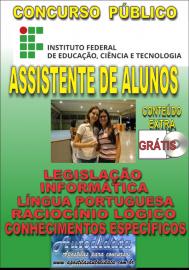 Apostila Impressa Concurso INSTITUTO FEDERAL DE EDUCAÇÃO, CIÊNCIA E TECNOLOGIA DO PARÁ - IFPA - PA - 2019 - Assistente de alunos